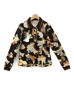 【中古】美品 レオナールスポーツ SIZE 40 (M) ハーフジップ 長袖 ポロシャツ LEONARD SPORT レディース