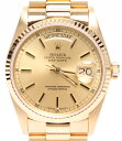 【中古】ロレックス 腕時計 デイデイト 自動巻き ゴールド 18038 メンズ ROLEX