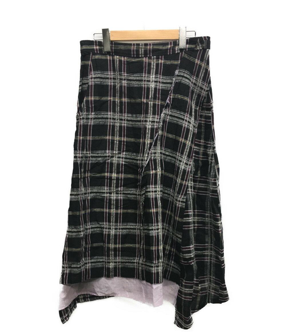 【中古】ワイズ 14SS レイヤード アシンメトリースカート YG-S14-225 レディース SIZE 1 (L) Y's