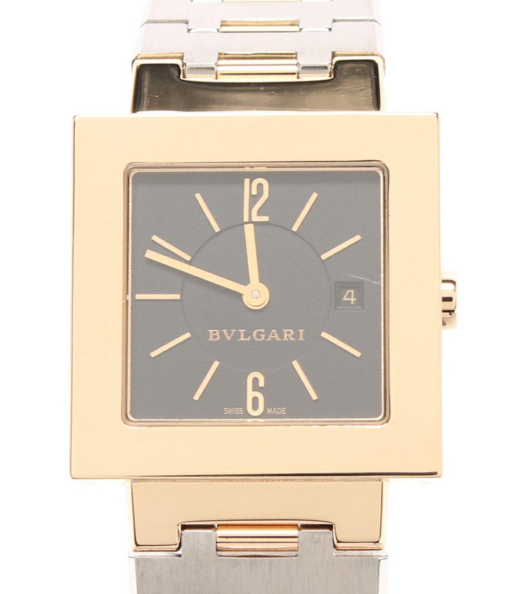 【中古】ブルガリ 腕時計 クアドラード クォーツ ブラック SQ27G メンズ Bvlgari