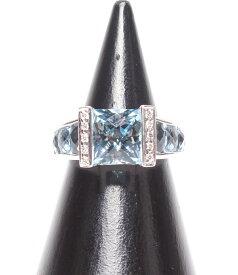 【中古】美品 ポンテヴェキオ リング アクアマリン2.60ct ダイヤモンド0.05ct K18WG レディース SIZE 11号 (リング) PONTE VECCHIO