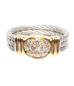 【中古】美品 リング ダイヤ 0.35ct K18YG K18WG レディース SIZE 9号 指輪 FRED