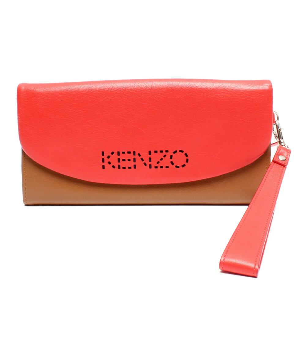 【中古】ケンゾー 長財布 (ストラップ付) レディース KENZO