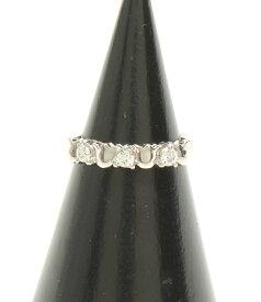 【中古】美品 クリスチャンディオール Pt950 ダイヤ 0.22ct リング レディース SIZE 8号 Christian Dior