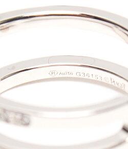 【中古】美品ピアジェダイヤクロスリングK18レディースSIZE8号(リング)PIAGET