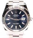 【中古】美品 ロレックス 腕時計 デイトジャスト 自動巻き ブルー 116334 メンズ ROLEX