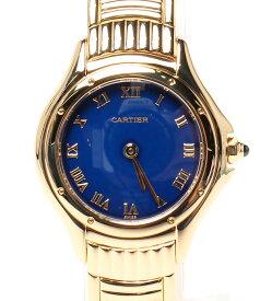 【中古】カルティエ 腕時計 クーガー クォーツ ブルー レディース Cartier