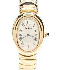【中古】カルティエ 腕時計 ベニュワール クォーツ ホワイト 1954 レディース Cartier