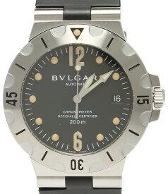 【中古】ブルガリ 腕時計 ディアゴノスクーバ 自動巻き ブラック SD38S メンズ Bvlgari