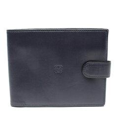 【中古】美品 ロエベ 二つ折り財布 ナッパレザー レディース LOEWE