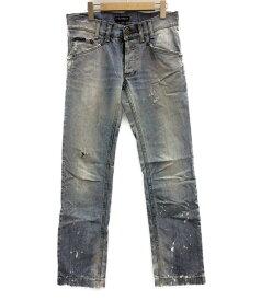 【中古】美品 ドルチェアンドガッバーナ ダメージ加工 デニムパンツ メンズ SIZE 44 (L) DOLCE&GABBANA