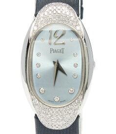 【中古】ピアジェ 腕時計 クオーツ ブルー P10002 レディース PIAGET