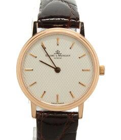 【中古】美品 ボームアンドメルシエ クォーツ腕時計 本体:K18KT クォーツ 2860371 レディース BAUME&MERCIER