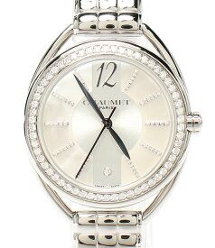 【中古】美品 ショーメ 腕時計 ダイヤ リアン クォーツ シェル W23612-21A レディース CHAUMET