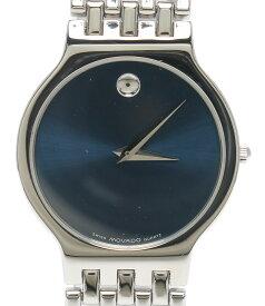 【中古】モバード 腕時計 クオーツ ブルー 84.19.861/1.4 ユニセックス MOVADO