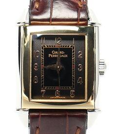 【中古】ジラールペルゴ 腕時計 ヴィンテージ 手巻き ブラック 2590 レディース Girard Perregaux