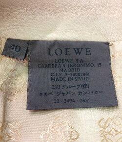 【中古】美品ロエベレザースカートレディースSIZE40(M)LOEWE