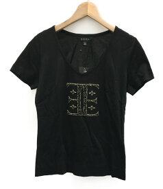 【中古】美品 エポカ ビーズ 半袖Tシャツ レディース SIZE 40 (M) EPOCA