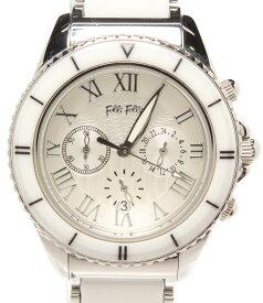 【中古】フォリフォリ 腕時計 クロノグラフ クオーツ シルバー WF6T019BE メンズ Folli Follie
