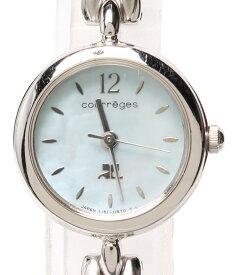【中古】クレージュ 腕時計 クオーツ シェル Y151-0G00 レディース courreges