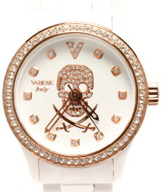 【中古】バベーネ 腕時計 クオーツ ホワイト レディース VABENE