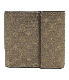 【中古】ルイヴィトン 二つ折り財布 ポルト ビエ・カルト クレディモネ モノグラムミニ M92440 メンズ Louis Vuitton