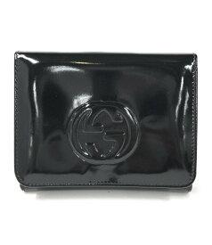 【中古】グッチ 二つ折り財布 インターロッキング レディース GUCCI