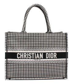 【中古】美品 クリスチャンディオール ブックトートスモール 千鳥格子 レディース Christian Dior
