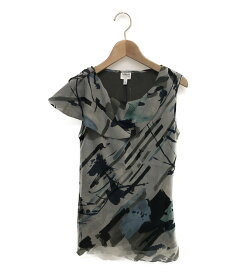 【中古】 アルマーニコレッツォーニ ノースリーブシャツ シルク100% レディース SIZE 38 (S) ARMANI COLLEZIONI