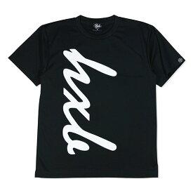 HXB ドライTEE 【HUGE LOGO】 BLACK×WHITE ブラック バスケットボール Tシャツ