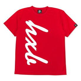 HXB ドライTEE 【HUGE LOGO】 RED×WHITE レッド バスケットボール Tシャツ