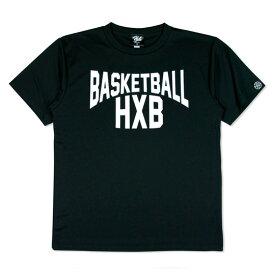 HXB ドライTEE【LENON】BLACK×WHITE バスケットボール Tシャツ