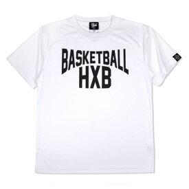 HXB ドライTEE【LENON】WHITE×BLACK バスケットボール  Tシャツ