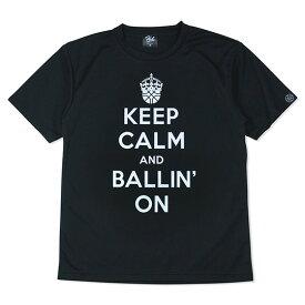 HXB ドライTEE【KEEP CALM】BLACK×WHITE バスケットボール Tシャツ