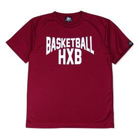 HXB ドライTEE【LENON】BURGUNDY×WHITE バスケットボール Tシャツ