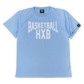 HXB ドライTEE【LENON】LIGHT BLUE × WHITE バスケットボール Tシャツ ライトブルー