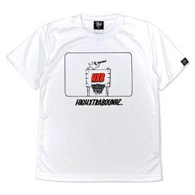 HXB×RAGELOW ドライTEE【STREET HOOP】 WHITE×BLACK バスケットボール Tシャツ
