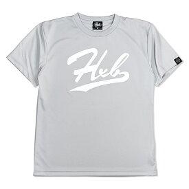 HXB ドライTEE【UNDER LINE】SILVER GRAY×WHITE バスケットボール Tシャツ