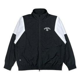 HXB TRACK JKT. 【DEPT.】 BLACK×WHITE バスケットボール ナイロン トラックジャケット