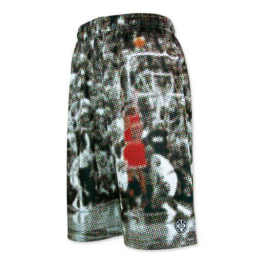 HXB Graphic Mesh Pants【CMYK DOTS (SMALL DOT)】 バスケットボールパンツ バスパン バスケショーツ バスケ バスケットボール ドット 柄