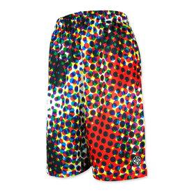 HXB Graphic Mesh Pants 【CMYK DOTS (BIG DOT)】 バスケットボールパンツ バスパン トリックアート ドット柄