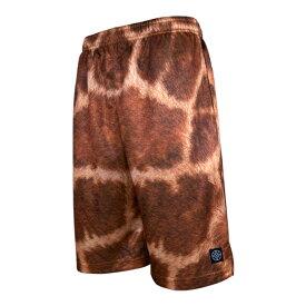 HXB バスパン【Graphic Mesh Pants】Giraffe バスケットボールパンツ バスパン キリン柄 麒麟