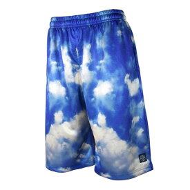 HXB Graphic Mesh Pants 【SKY】 バスケットボールパンツ バスパン バスケショーツ 空柄