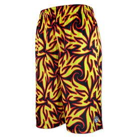 HXB Graphic Mesh Pants【LUDSCHI】Fire Zoom Bermuda バスケットボールパンツ バスパン コラボバスケショーツ