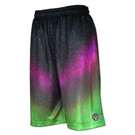 HXB Graphic Mesh Pants【Pink Aurora】 バスケットボールパンツ バスパン オーロラ柄