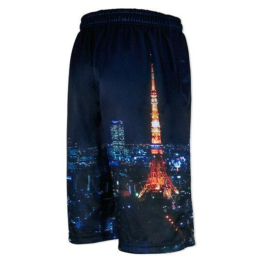 HXB Graphic Mesh Pants 【TOKYO KID】 バスケットボールパンツ バスパン バスケショーツ バスケ 東京タワー