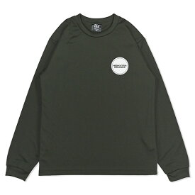 HXB DRY Long Sleeve Tee【THE CIRCLE】OLIVE×WHITE バスケットボール ドライロンTEE