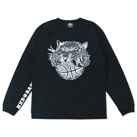 HXB DRY Long Sleeve Tee 【TIGER BALL】 BLACK バスケ ドライロンTEE