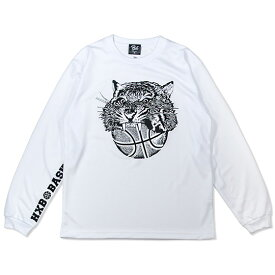 HXB DRY Long Sleeve Tee 【TIGER BALL】 WHITE バスケ ドライロンTEE