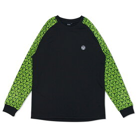 HXB Graphic Raglan Long Sleeve【LUDSCHI】Grass Wide バスケットボール ドライロンTEE